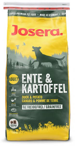 JOSERA Ente & Kartoffel гипоаллергенный полнорационный корм для собак, 4 кг