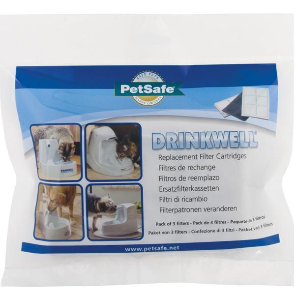 PetSafe Drinkwell FILTER ПЕТСЕЙФ ДРИНКВЕЛЛ сменный угольный фильтр для фонтанчика поилки на 1,2л и 5л, в комплекте 3 шт.