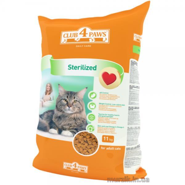 Сухой корм Клуб 4 Лапы для стерилизованных кошек, 11 кг