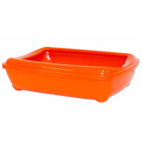 Moderna Mini МОДЕРНА АРИСТ-О-ТРЭЙ МИНИ туалет для кошек, с бортиком, оранж, 42х31х13 см