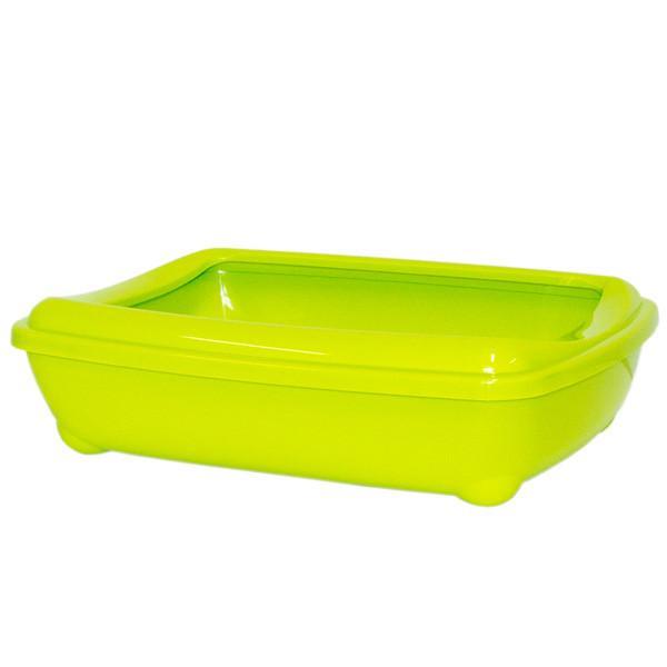 Moderna МОДЕРНА АРИСТ-О-ТРЭЙ туалет для кошек, с бортиком, ярко зеленый, 50х38х14 см