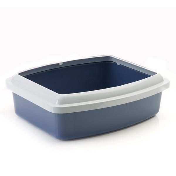 Savic ОВАЛ ТРЕЙ+РИМ (Oval Tray+Rim) туалет для котов с бортом, овал, экстра большой, 56Х43,5Х14,5 см