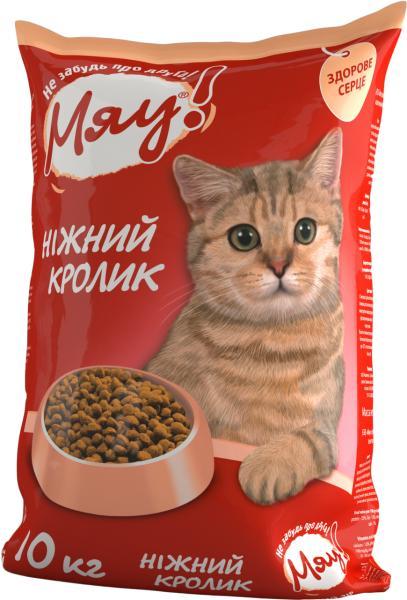 Мяу! Сухой корм для котов, нежный кролик, 11кг