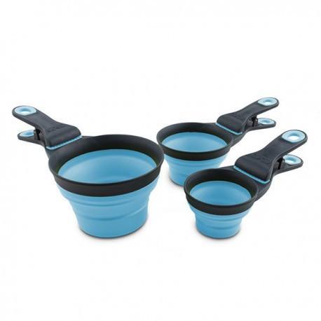 DEXAS Мерный стакан складной на клипсе, большой, голубой