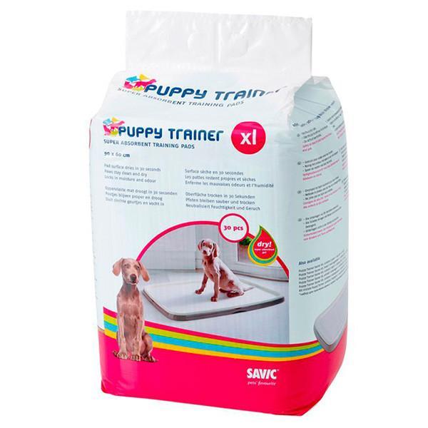 Savic ПАППИ ТРЭЙНЕР (Puppy Trainer) пеленки для собак, XL, 90х60 см, 30 шт