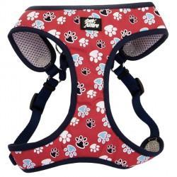 Coastal Designer Wrap шлея для собак, красный с лапками, 48,3-58,4см, 4,5-8,2кг