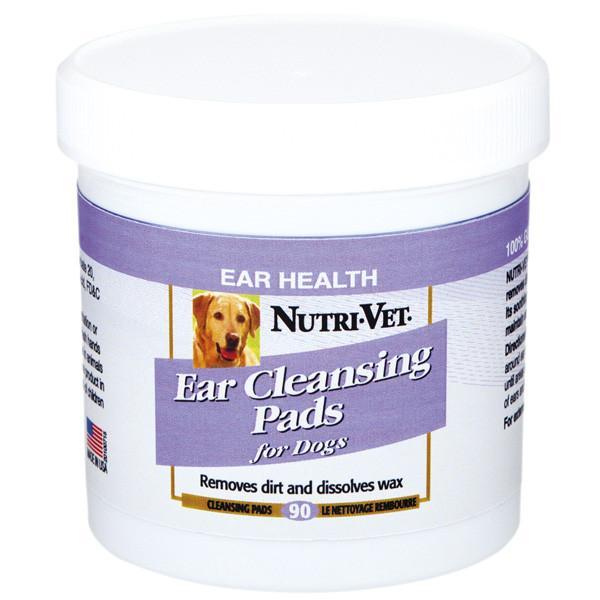 Nutri-Vet Dog Ear Wipe НУТРИ-ВЕТ ЧИСТЫЕ УШИ влажные салфетки для гигиены ушей собак, 90 шт