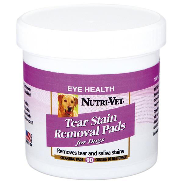Nutri-Vet Tear Stain Removal dog НУТРИ-ВЕТ ОЧИСТКА ПЯТЕН влажные салфетки для собак, от пятен под глазами, вокруг пасти и на лапах, 90 шт