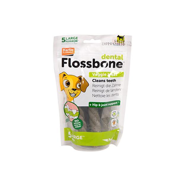 Karlie-Flamingo DENTAL FLOSSBONE флоссбон лакомство для чистки зубов собак, большой, 5 шт