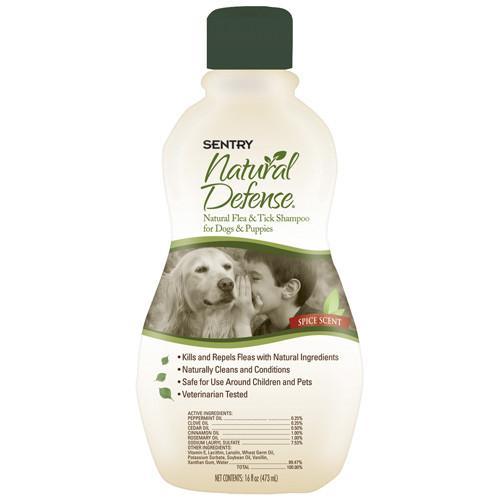 SENTRY Natural Defense СЕНТРИ НАТУРАЛЬНАЯ ЗАЩИТА шампунь от блох и клещей для собак и щенков, 355 мл