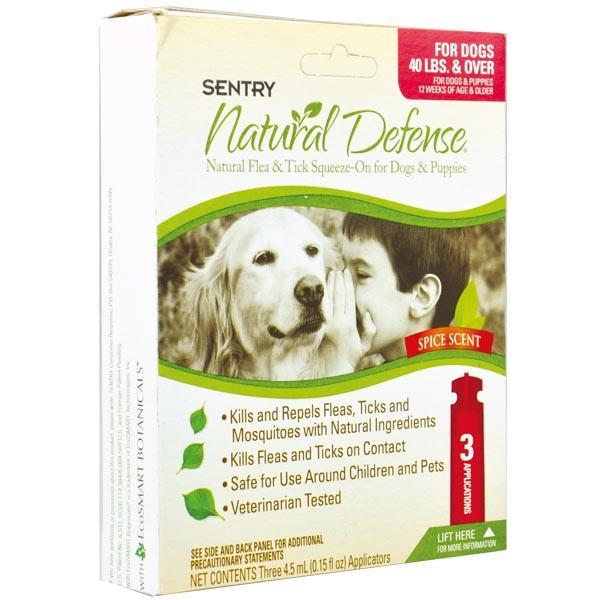 SENTRY Natural Defense СЕНТРИ НАТУРАЛЬНАЯ ЗАЩИТА капли от блох и клещей для собак, 4,5 мл, 3шт уп