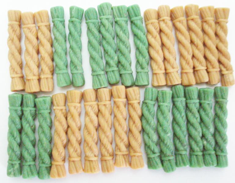 Лакомства - Жевательная щетка MIX XS (зеленый чай, курица), 64 мм, 30*6 г в упаковке
