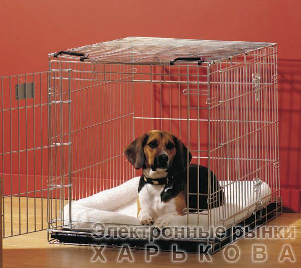 Savic ДОГ РЕЗИДЕНС (Dog Residence) клетка для собак, цинк, 50Х33Х40 см - Клетки и будки для собак на рынке Барабашова