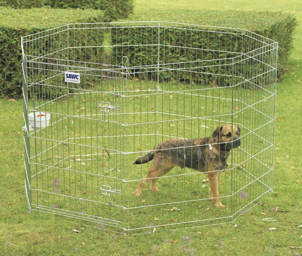 Savic ДОГ ПАРК (Dog Park) вольер для щенков, цинк, 8 панелей, 61Х91 см