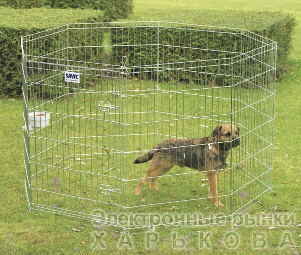Savic ДОГ ПАРК (Dog Park) вольер для щенков, цинк, 8 панелей, 61Х91 см - Клетки и будки для собак на рынке Барабашова