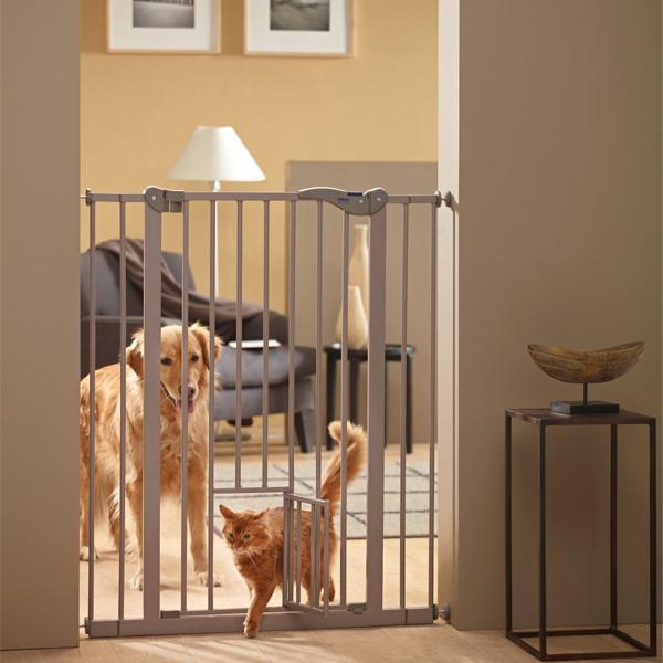 Savic ДОГ БАРЬЕР+ДВЕРЬ 107 (Dog Barrier+small door) перегородка для собак с дверцей, 107Х75-84 см