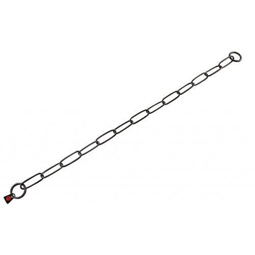Sprenger Long Link ошейник-цепь для собак, широкое звено, 3 мм, черная сталь, 50 см
