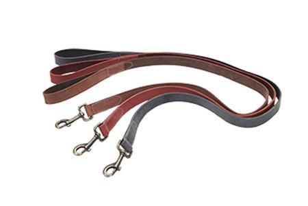 Coastal Rustic кожаный поводок для собак, серый, 2,5смХ1,2м