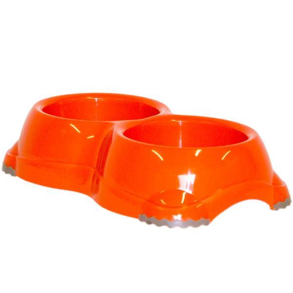 Moderna МОДЕРНА СМАРТИ №1 двойная миска для собак и кошек, 2х330 мл, ярко-зеленый
