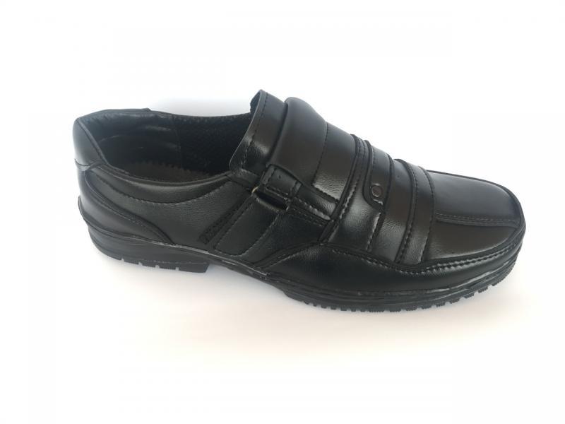 Туфли черный на липучке мужские Pilot - T-08