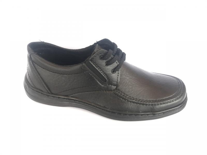 Туфли чёрные на шнурках мужские  ANKOR - 2