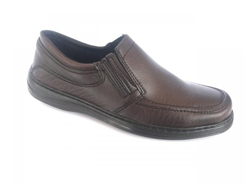 Туфли коричневый на резинках мужские ANKOR-1