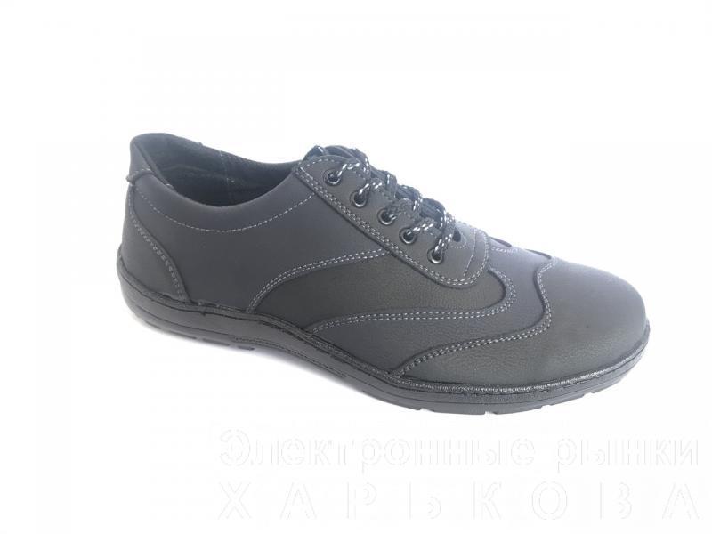 Туфли на шнурках мужские черный Cardinal ч/с