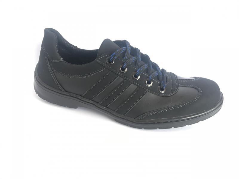 Туфли спортивный на шнурках мужские черный ANKOR №3