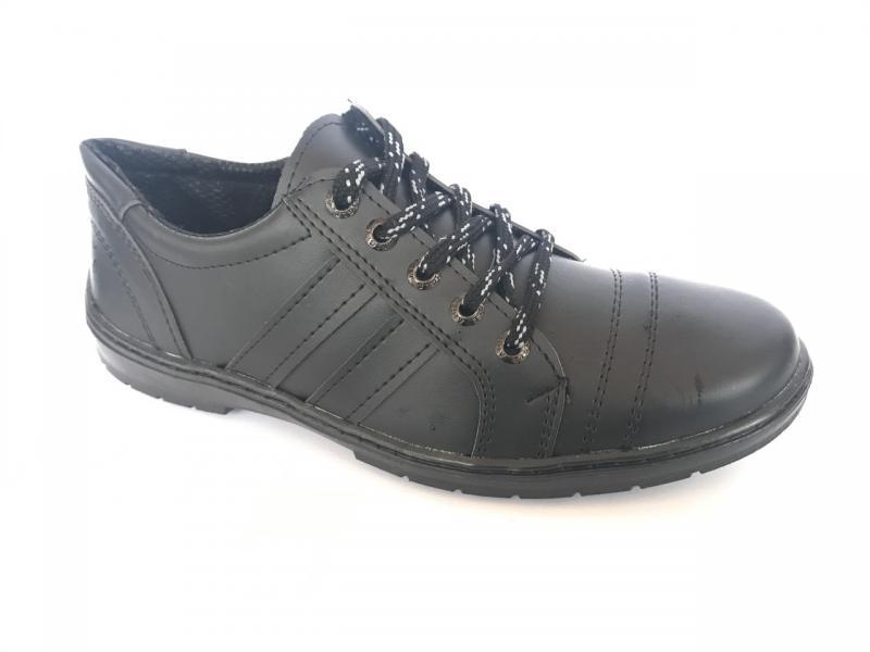 Туфли спортивный на шнурках мужские черный ANKOR СКЕЙТ