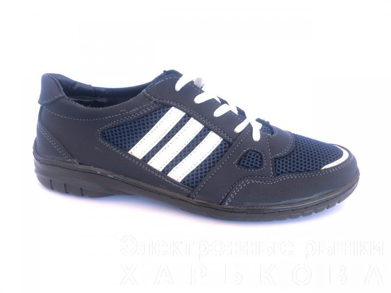 Туфли спортивный на шнурках мужские синий PILOT - 23
