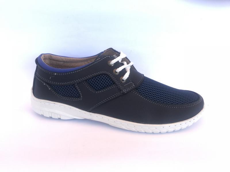 Туфли спортивный на шнурках мужские синий PILOT - 31