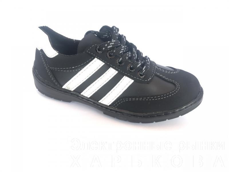 Туфли спортивные подростковый чёрный ANKOR кр-3 - Демисезонная детская и подростковая обувь на рынке Барабашова
