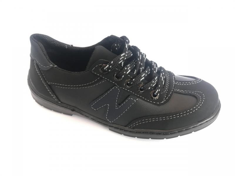 Туфли спортивные подростковый чёрный ANKOR кр-6(син)