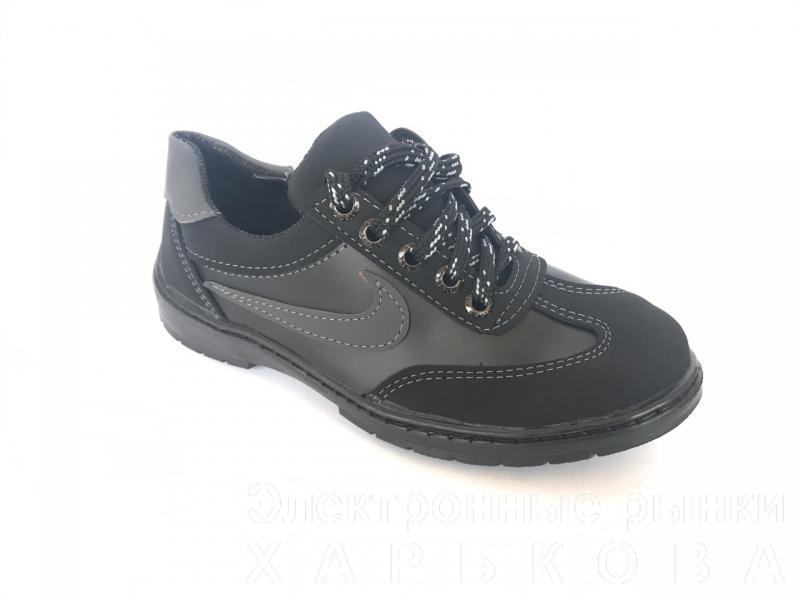 Туфли спортивные подростковый чёрный ANKOR кр-7(сер)