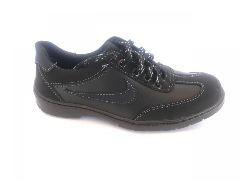 Туфли спортивные подростковый чёрный ANKOR кр-7(син)
