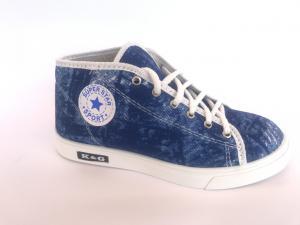 Фото Мокасины для женщин Мокасины женские синий джинсовый К-3