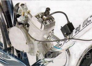Фото Двигатели в сборе для мототехники Веломотор F80 на велосипед 80 сс без стартера