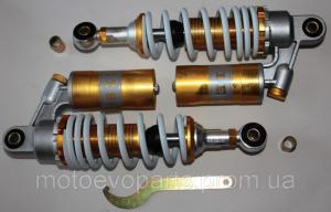 Фото Запчасти для китайских скутеров 125/150/170куб Амортизаторы YABEN-60-125 двойные с подкачкой L=260mm