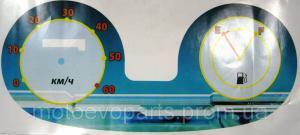 Фото Запчасти для китайских скутеров 125/150/170куб Наклейки на спидометр до 60 км/ч ( обманки )