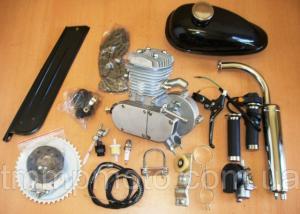 Фото Двигатели в сборе для мототехники Веломотор 80 сс чёрный без стартера