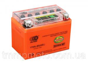 Фото Мото аккумуляторы Мотоаккумулятор 12В 4Ач гелевый с датчиком заряда