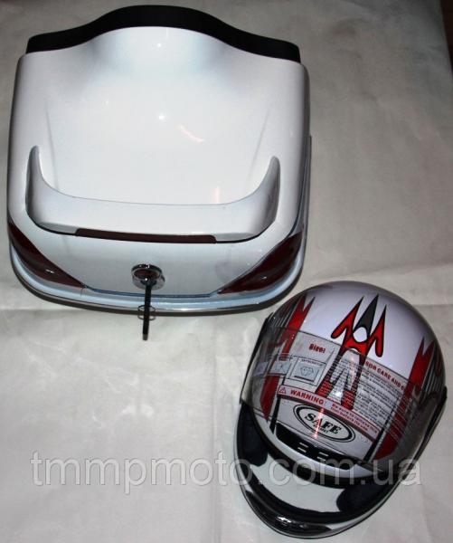 Кофра Мерседес с шлемом внутри белая