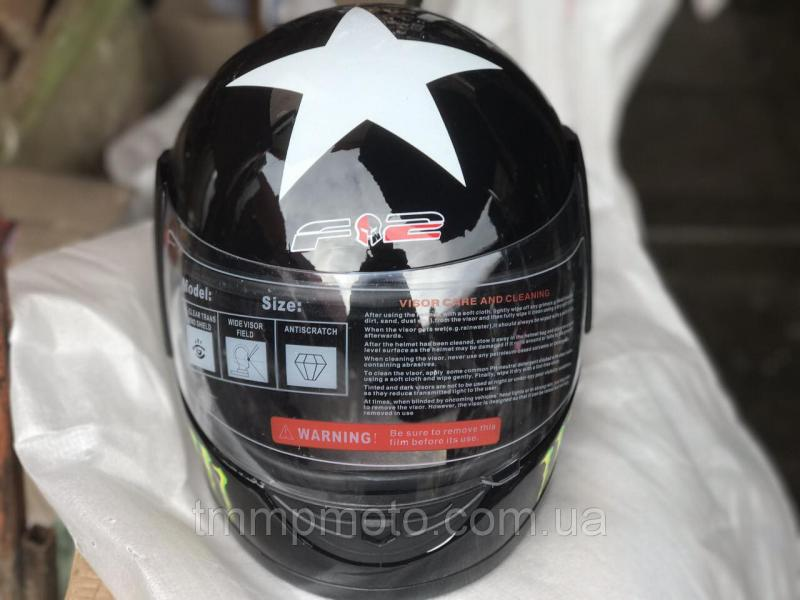 Шлем-интеграл BLD №-825 Monster mat black/green