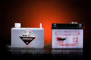 Фото Мото аккумуляторы Мото аккумулятор 12В 4Ач сухо заряженый с кислотой