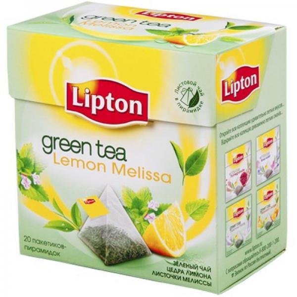 """Чай """"Lipton"""" зеленый ароматизированный Green Tea Melissa (20 пак/уп)"""