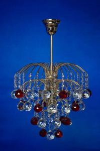 Фото Классические люстры Брызги шампанского с красным шаром