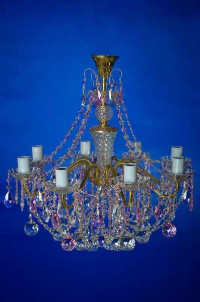 Свечи латунь 8-лам.   розовая
