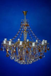 Фото Классические люстры Свечи латунь 12-лам.   Коричневая
