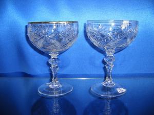 Фото Хрустальная посуда, Фужеры, бокалы, рюмки Набор хрустальных шампанок