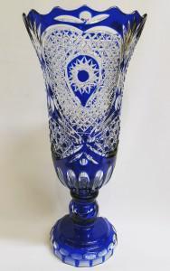 Фото Хрустальная посуда, Вазы из цветного хрусталя Ваза для цветов цветной хрусталь синяя